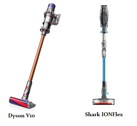 Shark Ionflex 2x Vs Dyson V10 Side By Side Cordless