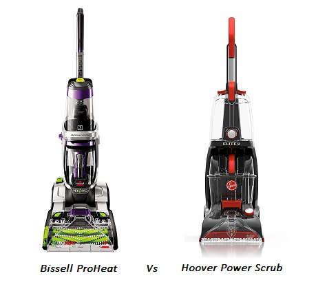 Bissell Proheat 2x Vs Hoover Power Scrub Head To Head Comparison